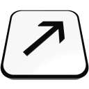 arrow linear right top  iconizer