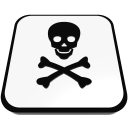 electric power danger skull  iconizer