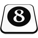 number cue ball eight  iconizer
