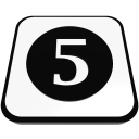 number cue ball five  iconizer