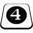 number cue ball four  iconizer