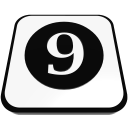 number cue ball nine  iconizer