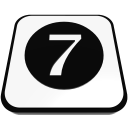number cue ball seven  iconizer