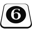 number cue ball six  iconizer