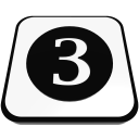 number cue ball three  iconizer