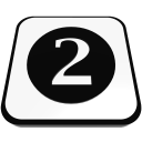 number cue ball two  iconizer
