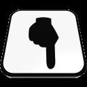 point bottom hand finger  iconizer