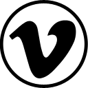 vimeo social bookmarking social network simple logo iconizer