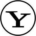 yahoo social bookmarking social network simple logo iconizer