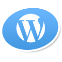 wordpress logo social bookmark icon iconizer